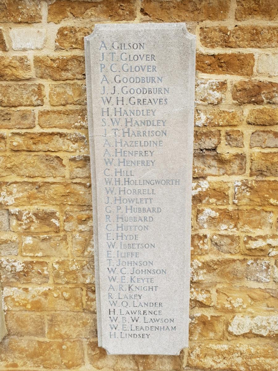 Egerton Lodge War Memorial Tablet LH #4