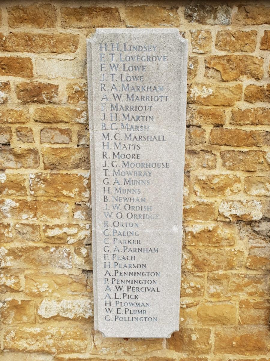 Egerton Lodge War Memorial Tablet LH #5