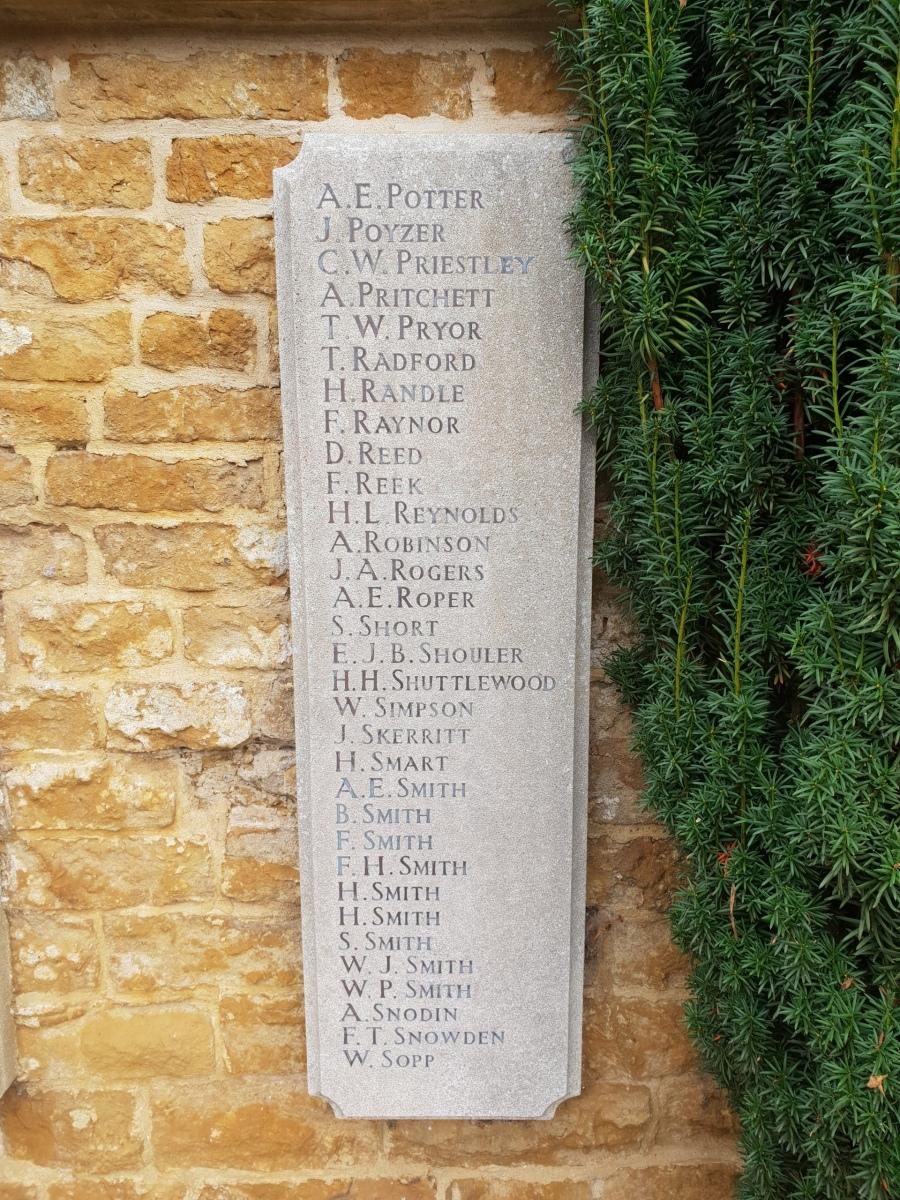 Egerton Lodge War Memorial Tablet LH #6