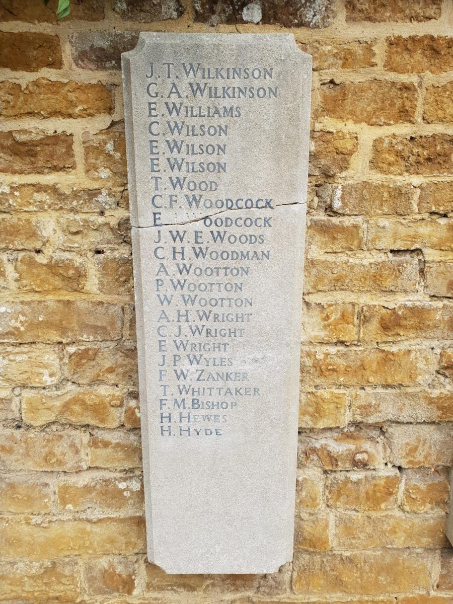 Egerton Lodge War Memorial Tablet RH #8
