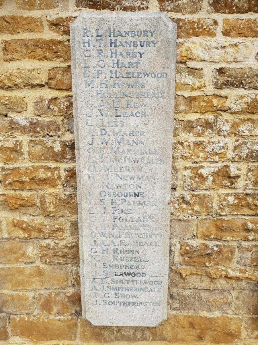 Egerton Lodge War Memorial Tablet RH #10