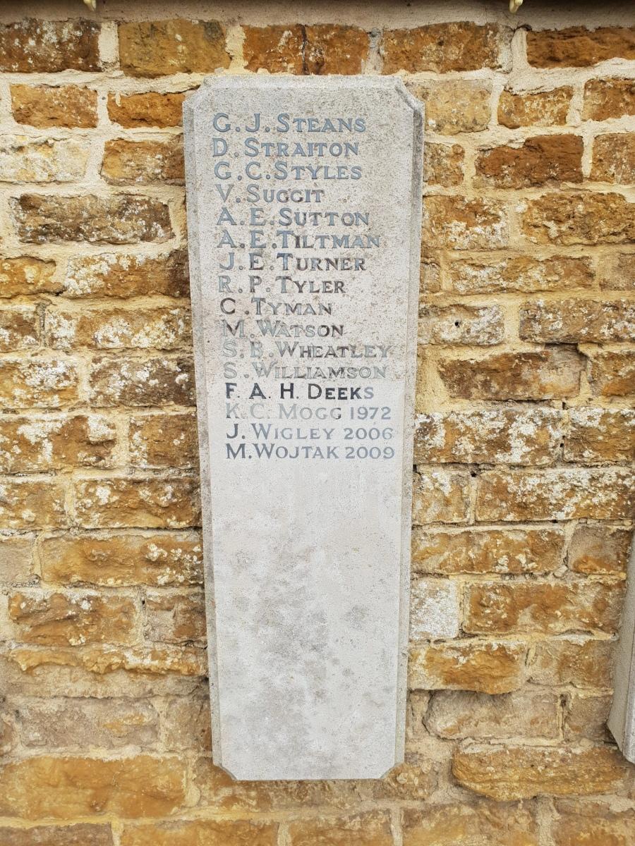 Egerton Lodge War Memorial Tablet RH #11
